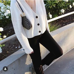 Pacsun LA Hearts Long Sleeve Cropped Cardigan